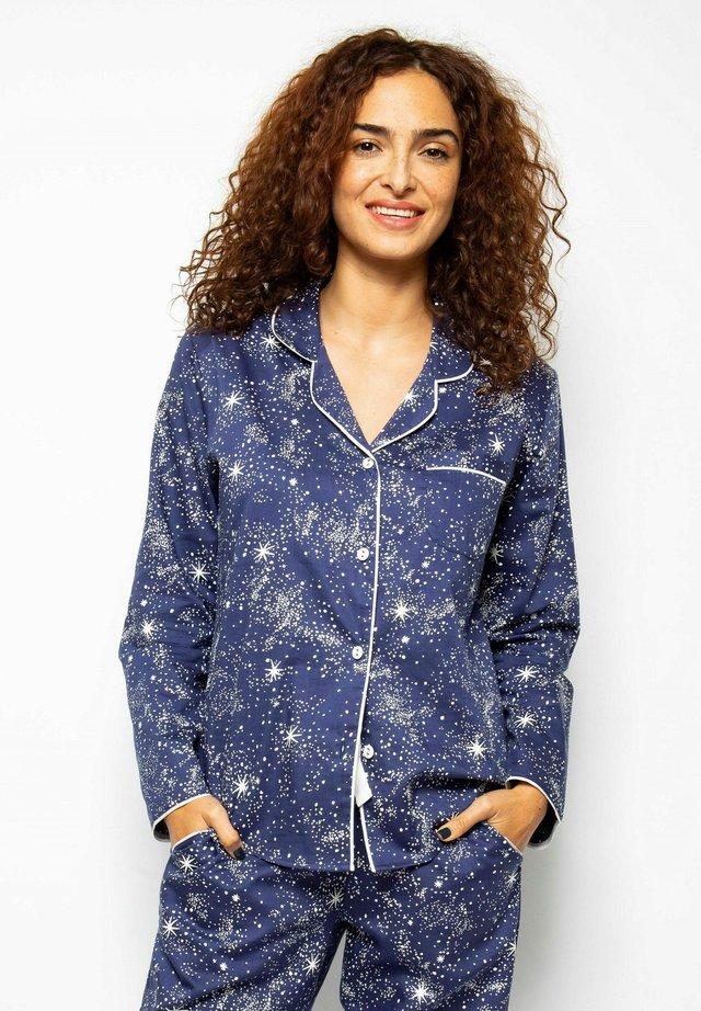 Pyjamashirt - navy star prt
