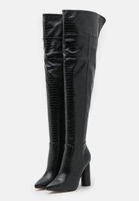 RAID - TOFINO - Kozačky nad kolena - black - 2