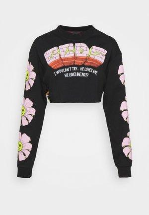 FLOWER CROP - Long sleeved top - black