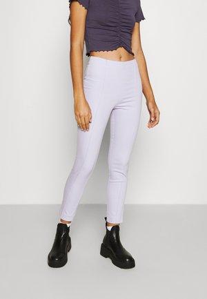 Trousers - lilac purple dusty light