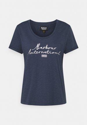 HALLSTATT TEE - Print T-shirt - metallic blue