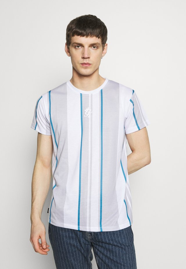WITH VERTICAL STRIPES - T-shirt print - white