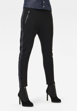 FABRIC MIX TAPERED  - Trousers - dk black