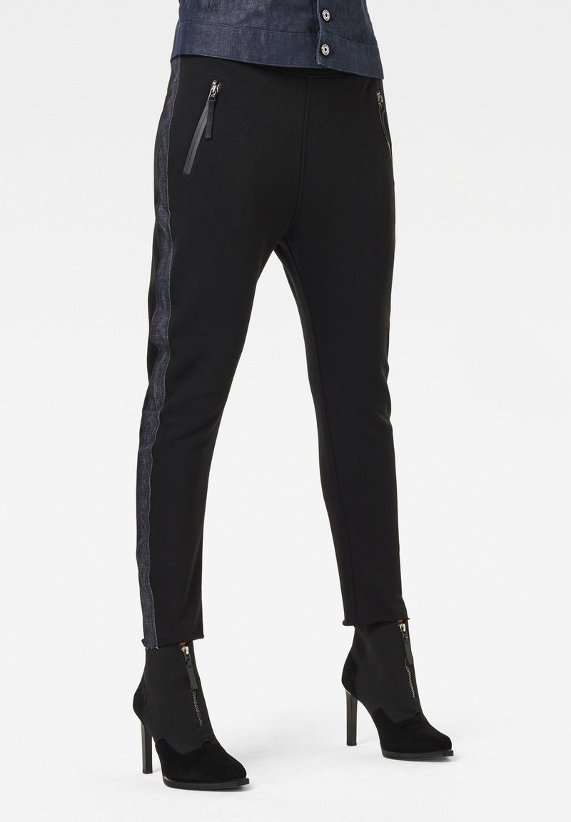 G-Star - FABRIC MIX TAPERED  - Trousers - dk black
