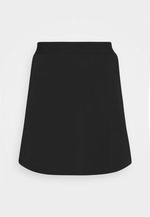 SKIRT MIX PLAIN - Mini skirt - black