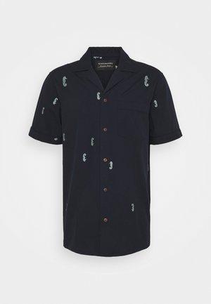 SHORTSLEEVE WITH HAWAIIAN COLLAR - Shirt - dark blue