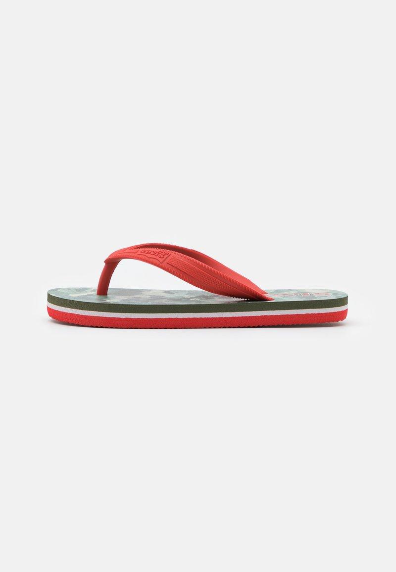 Levi's® - SOUTH BEACH UNISEX - Teenslippers - khaki/red