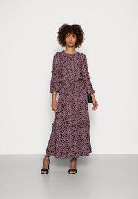 Thought - TABITHA FRILL MAXI DRESS - Maxi dress - amethyst grey - 1