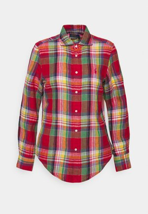 PLAID - Button-down blouse - red/pink