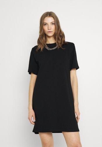 KAHLO SHOULDER PAD DRESS - Jersey dress - black