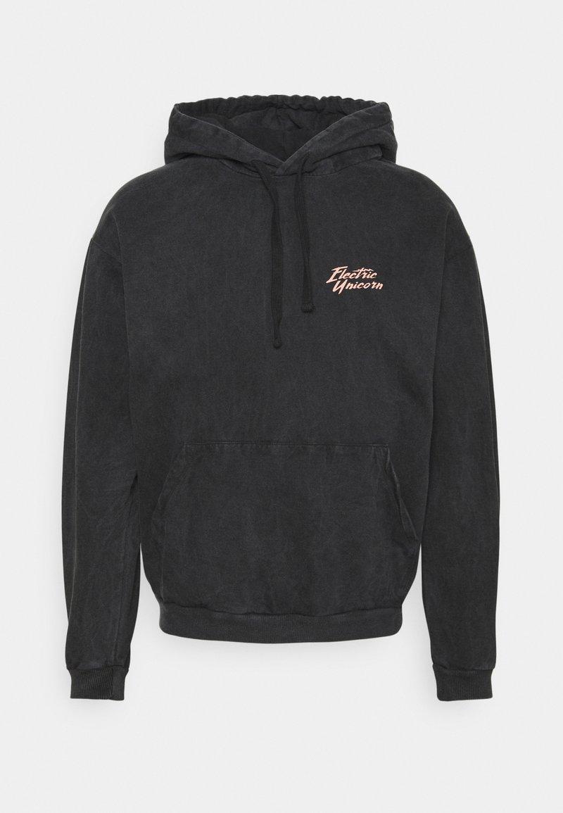 Kaotiko - CAP WASHED UNICORN UNISEX - Sweatshirt - black
