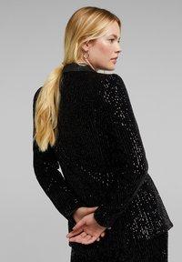 Esprit Collection - MIT PAILLETTEN - Blazer - black - 2
