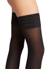 Wolford - VELVET DE LUXE - Over-the-knee socks - black - 3
