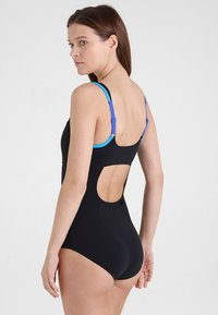 Arena - MAKIMURAX LOW CUP - Swimsuit - black/bright blue/turquoise - 2