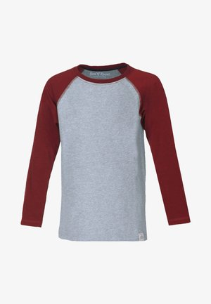Long sleeved top - brick-red