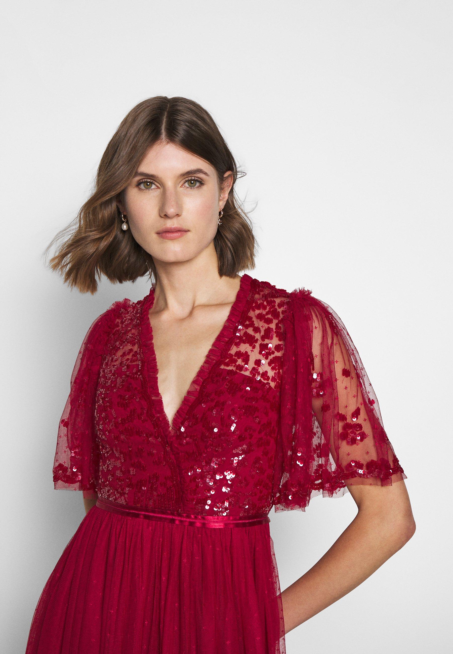 Needle & Thread PATCHWORK BODICE BALLERINA DRESS EXCLUSIVE - Cocktailkjole - deep red