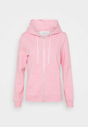 Regular Fit Zip Sweat Jacket Contrast Cord - Hoodie met rits - mottled rose