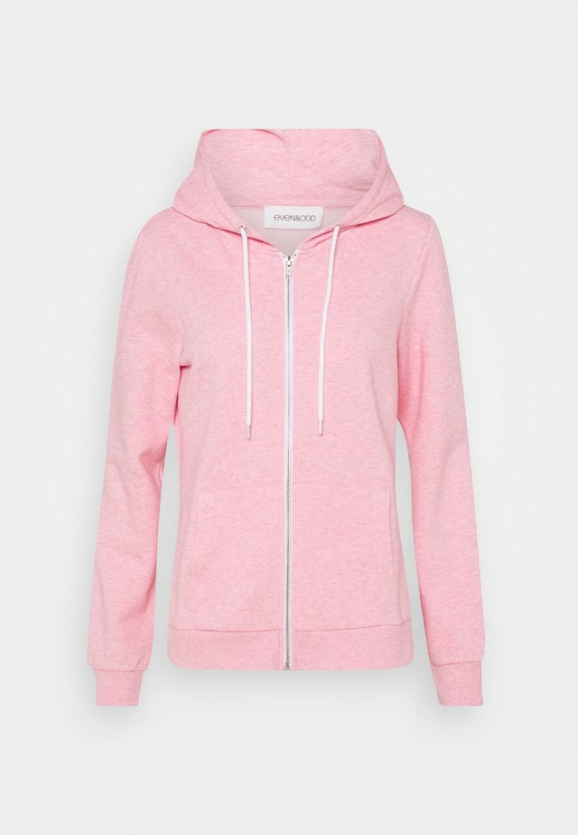 Regular Fit Zip Sweat Jacket Contrast Cord - Felpa aperta - mottled rose