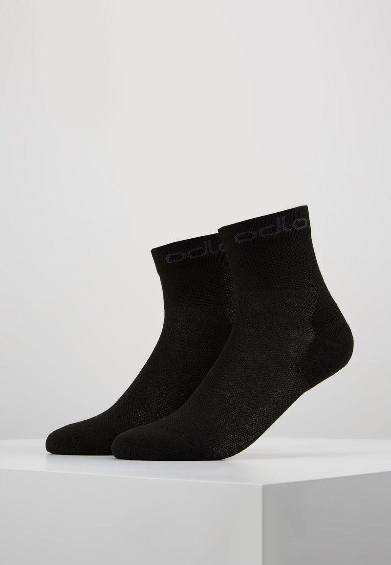 ODLO - SOCKS QUARTER ACTIVE 2 PACK - Sportovní ponožky - black