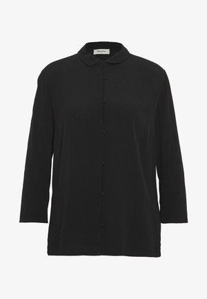 BERTA - Button-down blouse - black