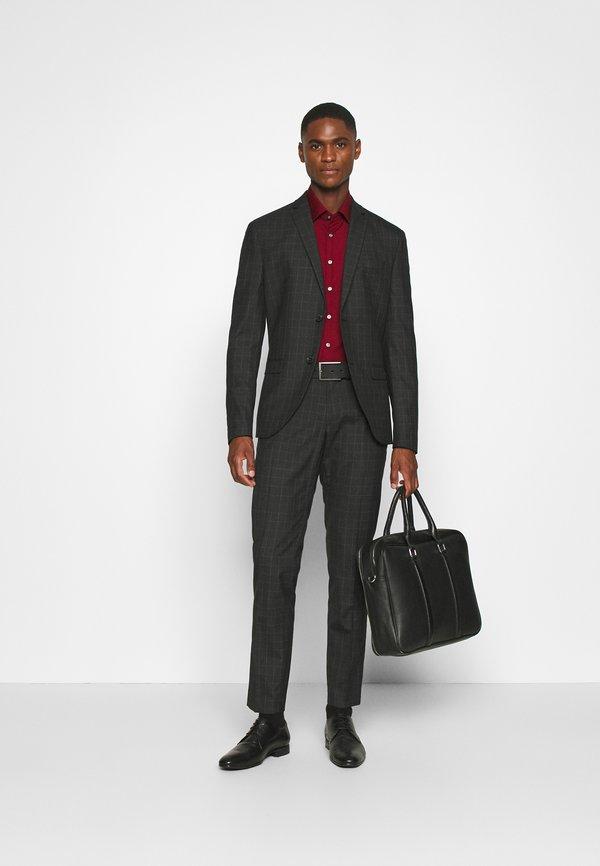 Calvin Klein Tailored CONTRAST FLOWER PRINT SLIM - Koszula biznesowa - red/ciemnoczerwony Odzież Męska HMGF
