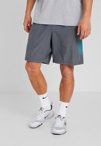 Under Armour - GRAPHIC SHORTS - Korte sportsbukser - pitch gray/teal rush - 0