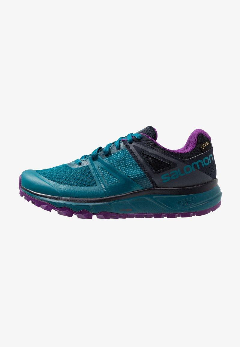 Salomon - TRAILSTER GTX - Trail running shoes - deep lagoon/navy blazer/purple magic