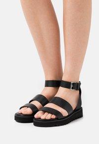 Even&Odd Wide Fit - Platform sandals - black - 0