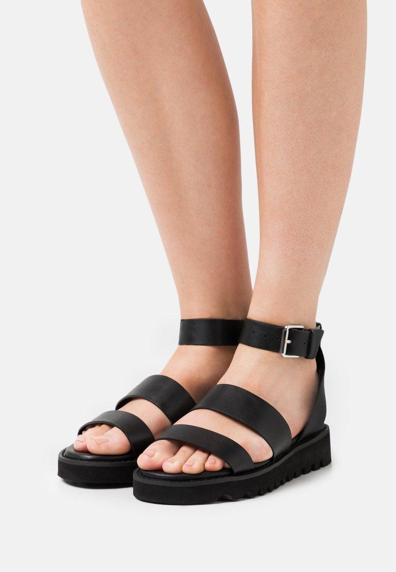 Even&Odd Wide Fit - Platform sandals - black