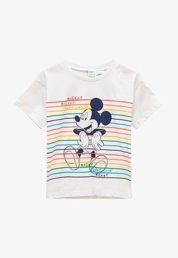 MICKEY MOUSE  - Print T-shirt - optic white