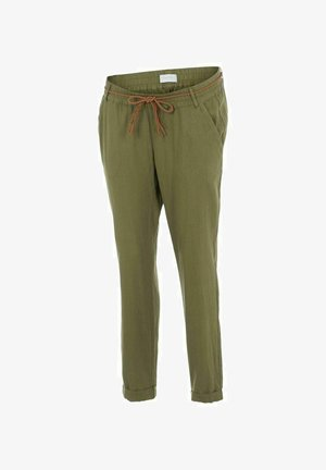 MLBEACH BELT PANT - Kalhoty - olivine