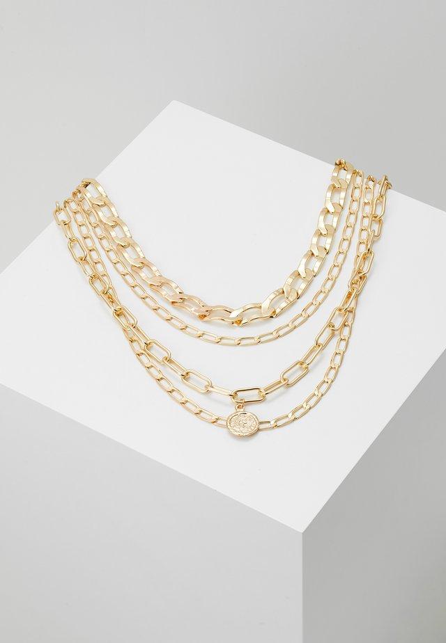PCDJAMILLA COMBI NECKLACE KEY 4 PACK - Collar - gold-coloured