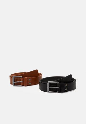 2 PACK - Bælter - black/cognac