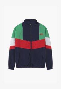 Fila - CHRIS WIND - Training jacket - black iris/true red/ginko green/bright white - 0