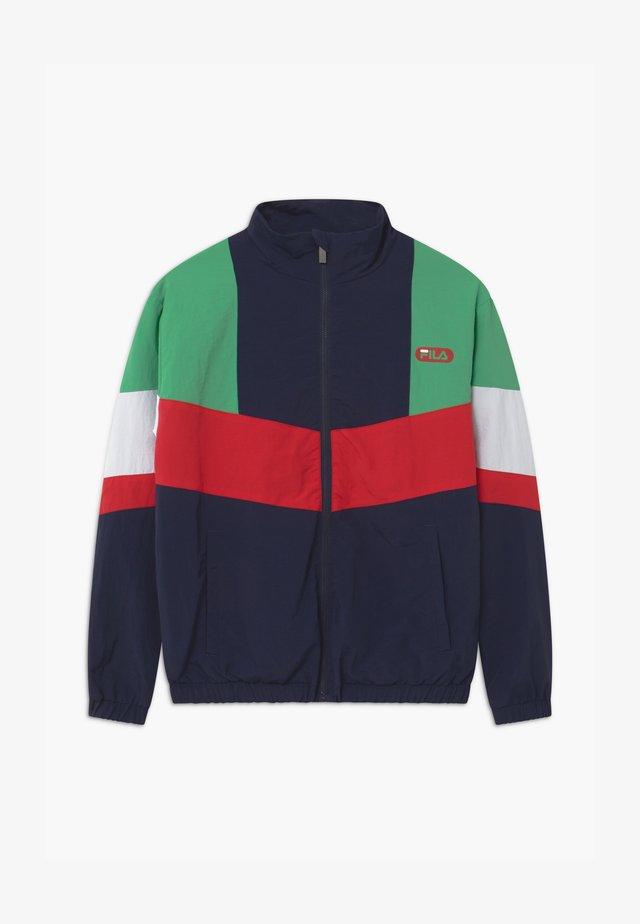 CHRIS WIND - Training jacket - black iris/true red/ginko green/bright white