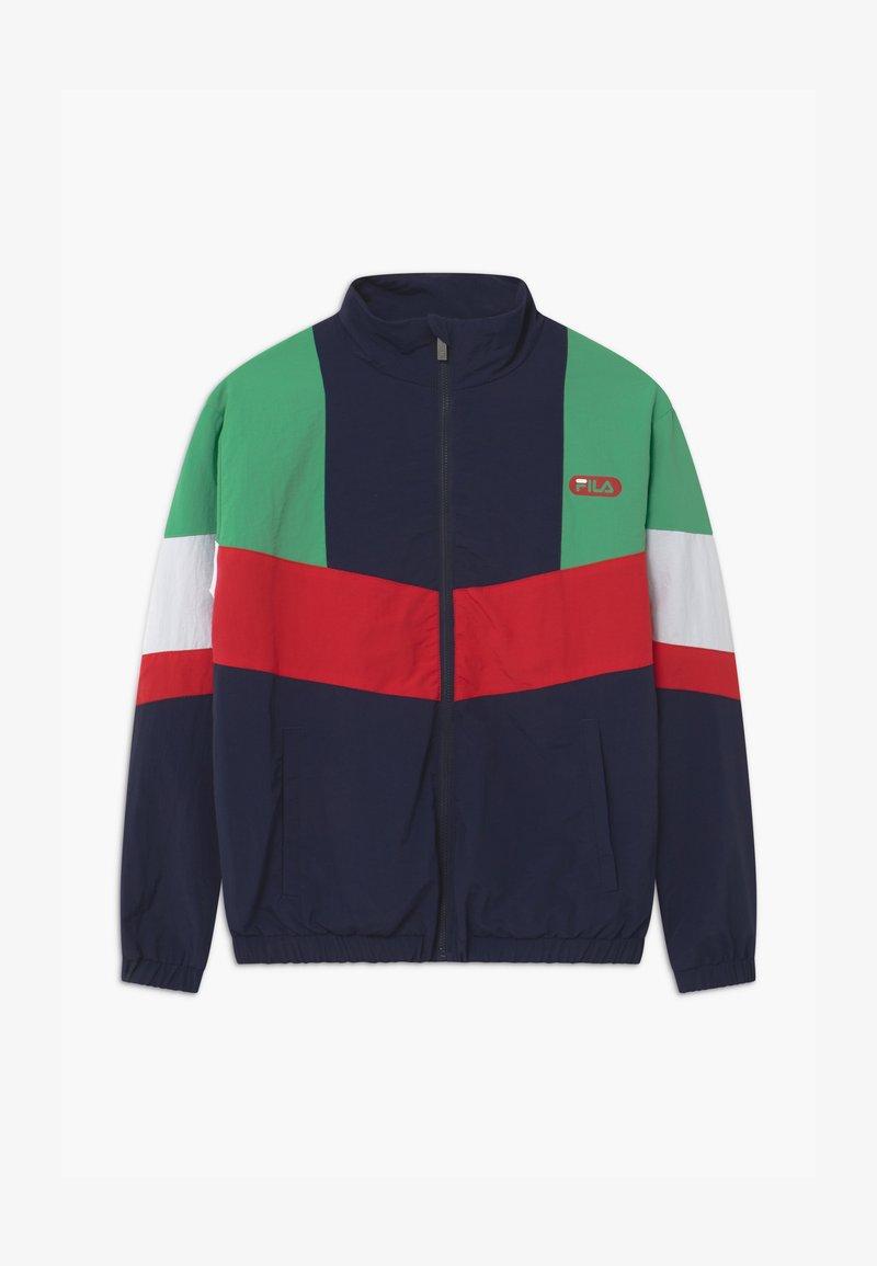 Fila - CHRIS WIND - Training jacket - black iris/true red/ginko green/bright white