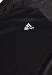 adidas Performance - OWN THE RUN TEE - T-shirt print - black - 2