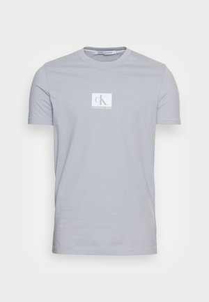 SMALL CENTRE CHEST BOX - T-shirt con stampa - marble grey