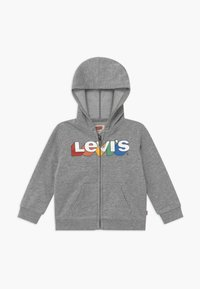 Levi's® - RAINBOW LOGO ZIP UP HOODIE  - Zip-up hoodie - grey heather - 0