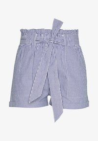 ONLY Petite - ONLSMILLA STRIPE BELT - Shorts - medium blue/white - 0