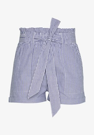 ONLSMILLA STRIPE BELT - Shorts - medium blue/white