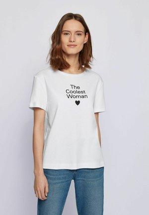 EROMANCE - T-shirt imprimé - white