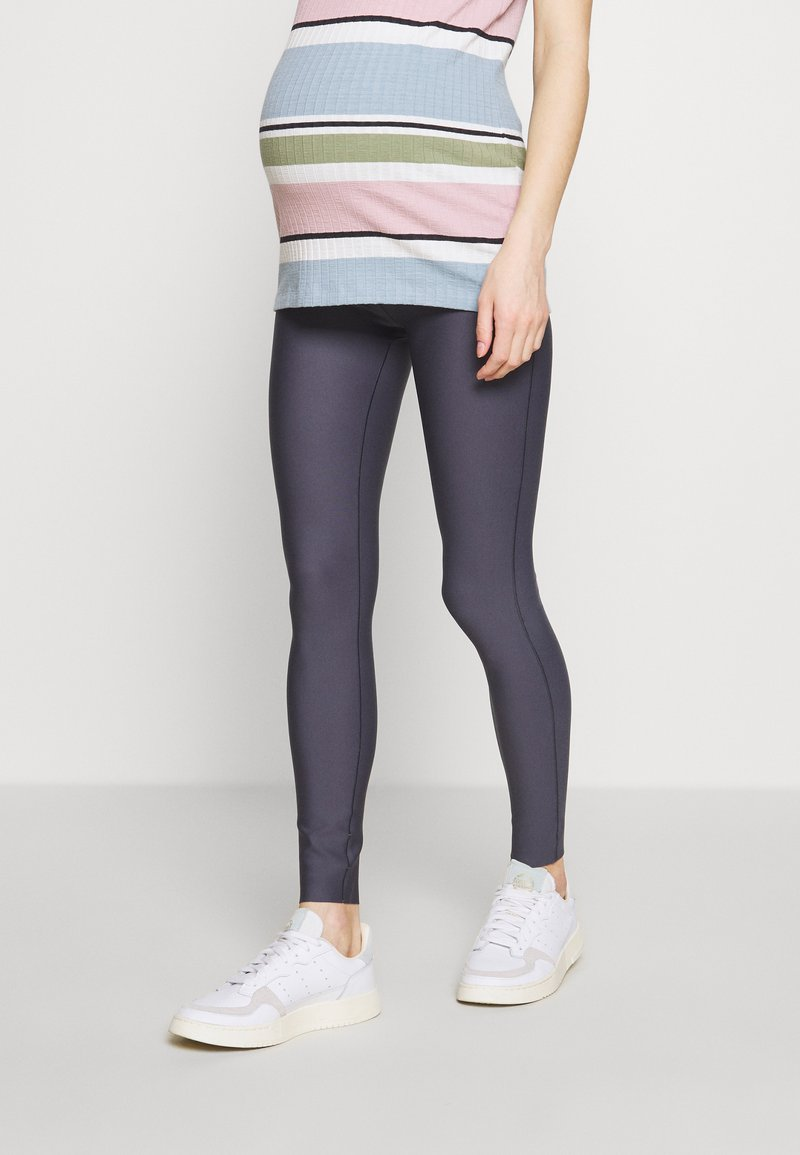 GLOWE - The Glowe Maternity SUPPORT LEGGING - Leggings - Trousers - solid grey