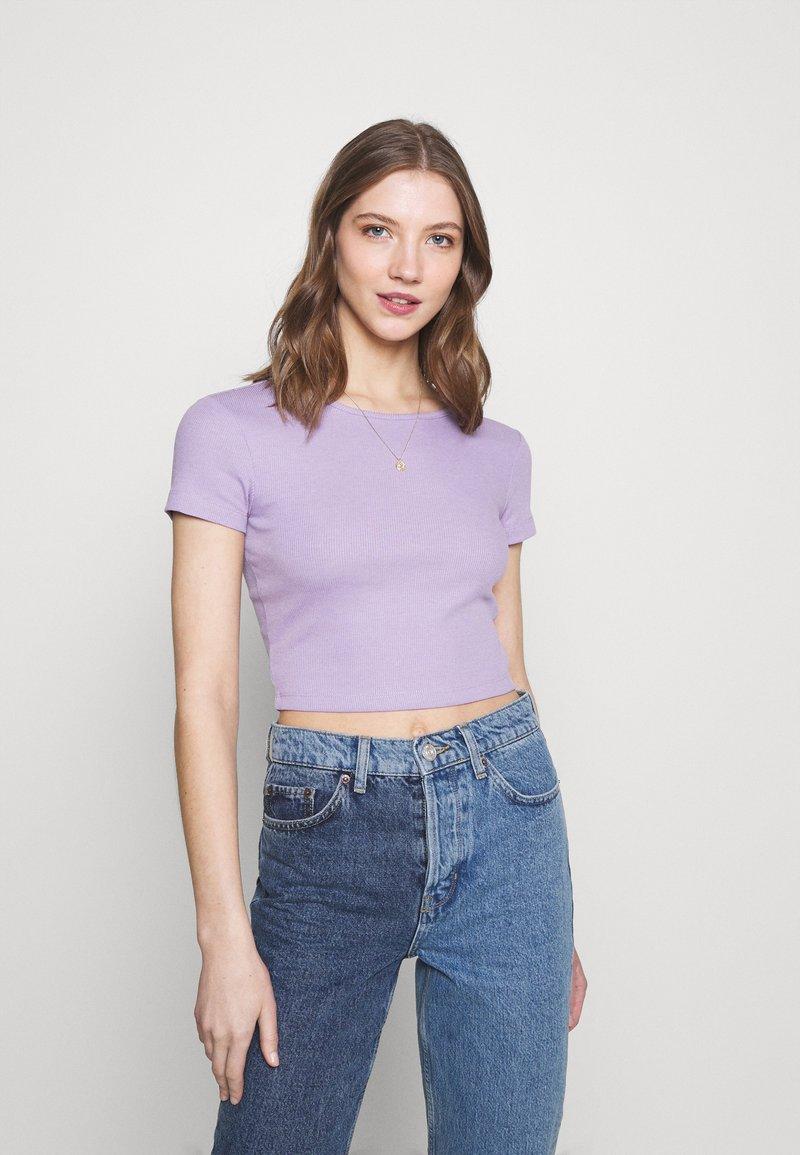 Even&Odd - Basic T-shirt -  mottled lilac