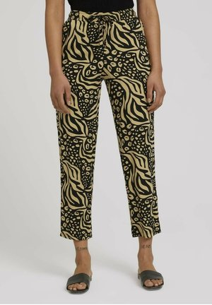 Pantalon classique - black animal print
