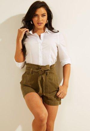 BRUSTTASCHE - Button-down blouse - weiß