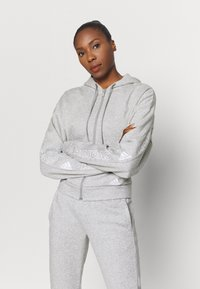 adidas Performance - Zip-up hoodie - mottled grey/white - 0