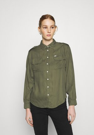 UTILITY  - Button-down blouse - olive green