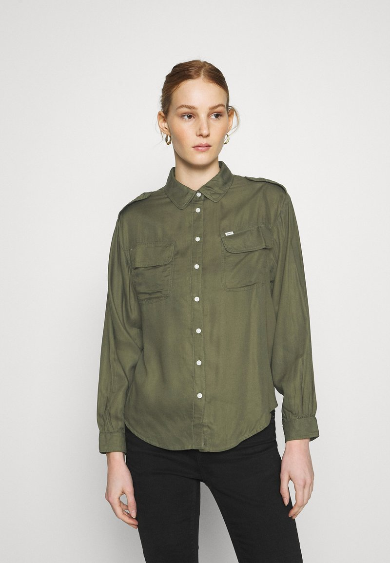 Lee - UTILITY  - Button-down blouse - olive green
