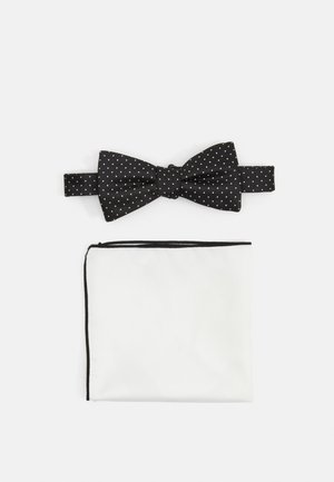 SLHLANDON BOWTIE GIFTBOX SET - Pocket square - black